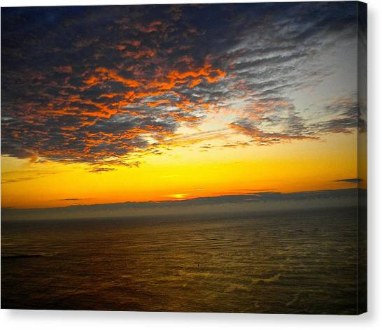 Jersey Morning Sky Canvas Print
