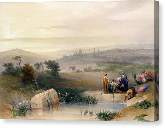 Mirage Canvas Print - Jerusalem, April 1839 by David Roberts