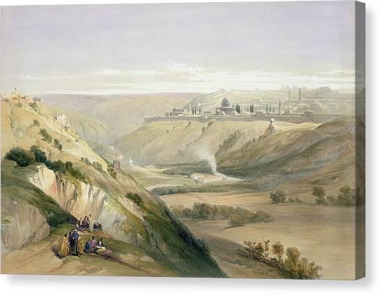 Holy Land Canvas Print - Jerusalem April 5th 1839 by David Roberts