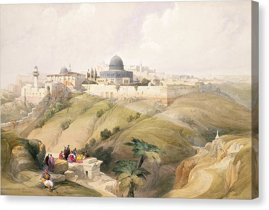 Palestinian Canvas Print - Jerusalem, April 9th 1839, Plate 16 by David Roberts