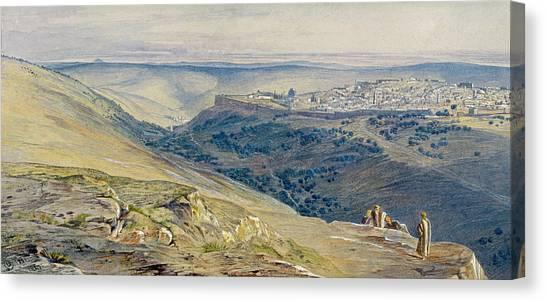 Israeli Canvas Print - Jerusalem by Edward Lear