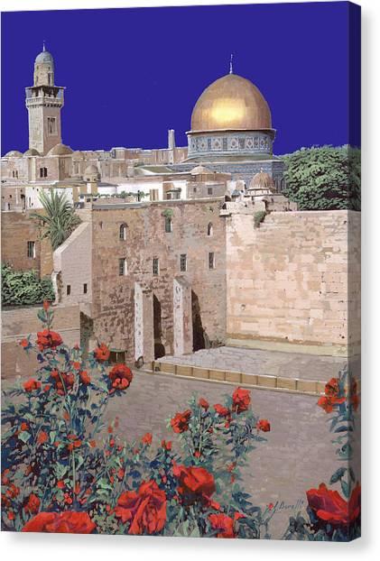 Israeli Canvas Print - Jerusalem by Guido Borelli