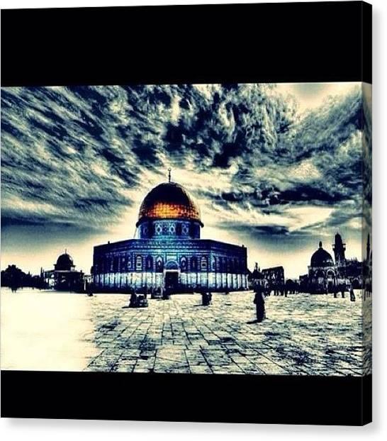 Palestinian Canvas Print - #jerusalem #palestine #alquds #mosque by Feras Husni