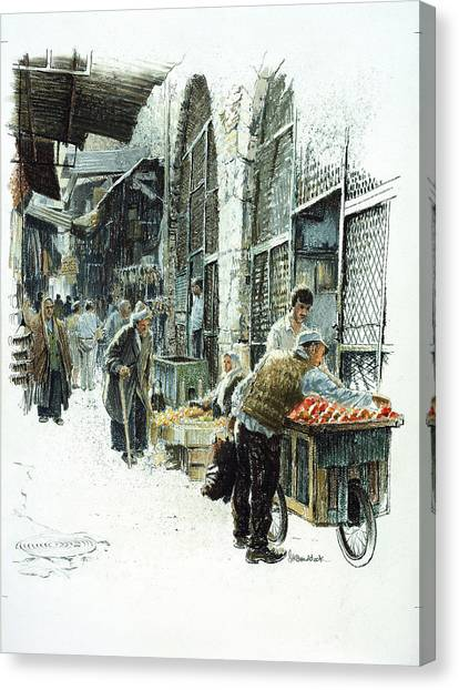 Jerusalem Street Canvas Print