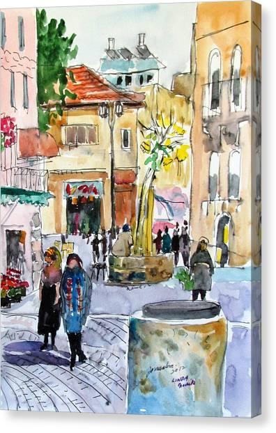 Jerusalem Street Scene Canvas Print