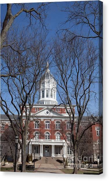 University Of Missouri Canvas Print - Jesse Hall by Kay Pickens