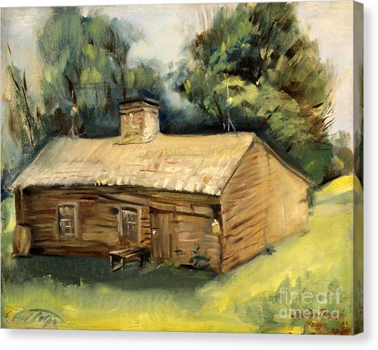 Jesse James Home 1940 Canvas Print