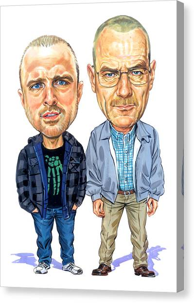 Jesse Pinkman And Walter White Canvas Print by Art