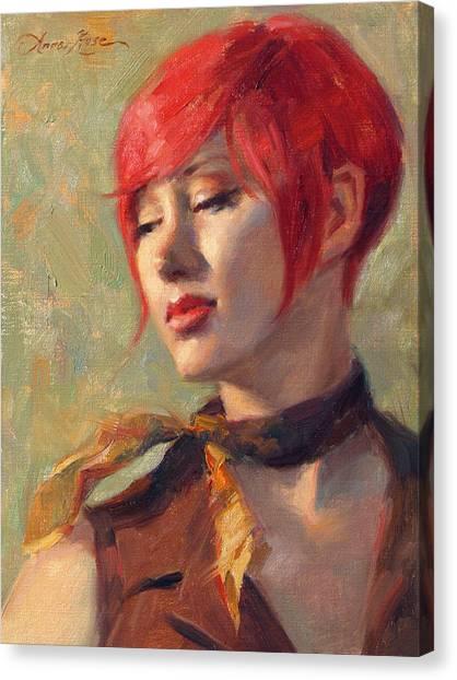 Neck Canvas Print - Jessica's Scarf by Anna Rose Bain