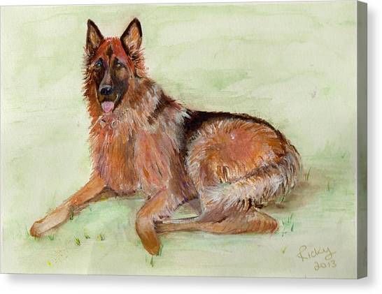 Jessie-painting Canvas Print