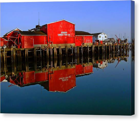Jessies Ilwaco Fish Company Canvas Print