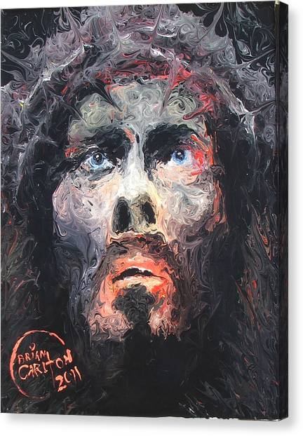 Jesus 002 Canvas Print by Brian Carlton