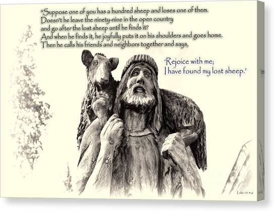 Jesus And Lamb Canvas Print