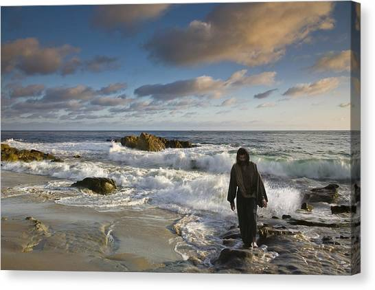 Jesus Christ- Follow Me And I Will Make You Fishers Of Men Canvas Print