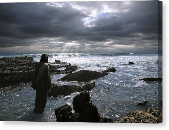Jesus Christ- The Heavens Declare The Glory Of God Canvas Print