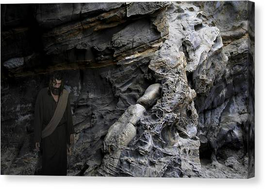 Jesus Entered Jericho Canvas Print