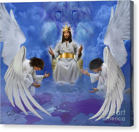 Prophetic Art Canvas Print - Jesus Enthroned by Tamer and Cindy Elsharouni
