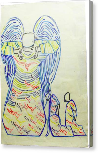 Jesus Guardian Angel Canvas Print