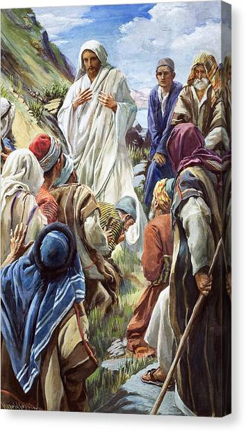 Messiah Canvas Print - Jesus by Harold Copping