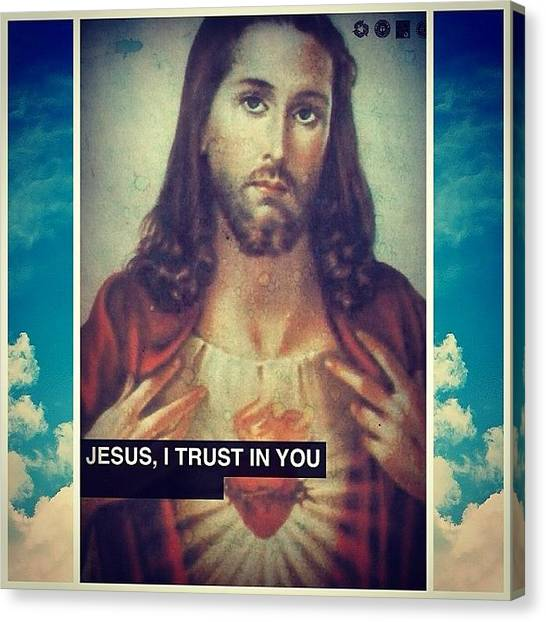 Mercy Canvas Print - Jesus, I Trust In You. #trust #hiswill by David Calavitta