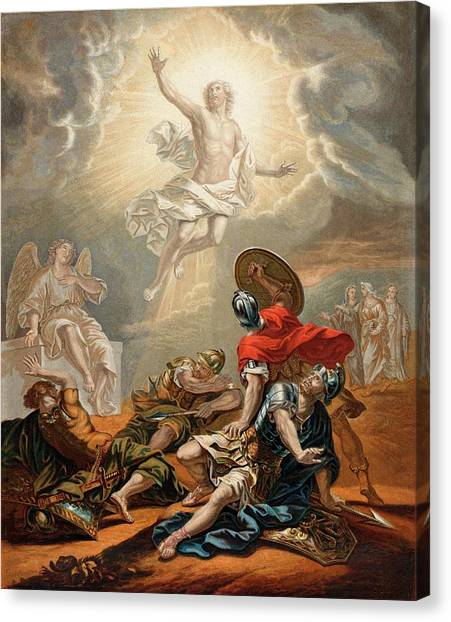 Resurrected Canvas Print - Jesus Is Resurrected From The  Grave by Mary Evans Picture Library