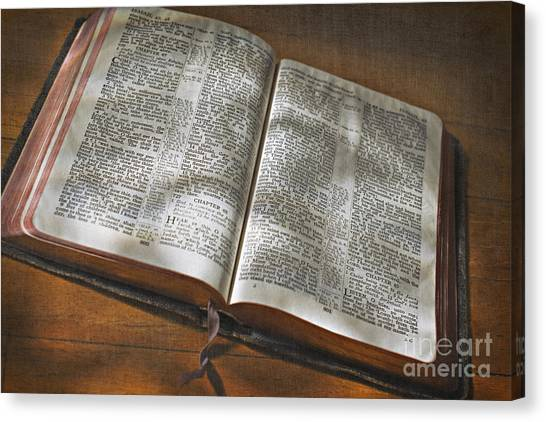 Holy Bible Canvas Print - Jesus Is The Reason For Christmas by Carolyn Rauh