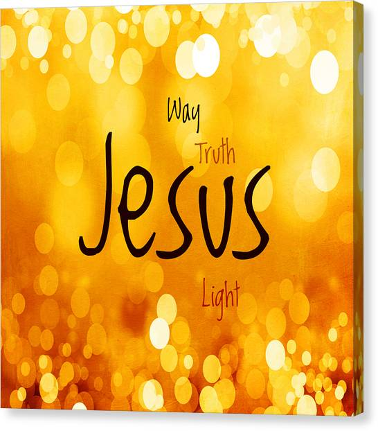 Messiah Canvas Print - Jesus Light 1 by Angelina Tamez