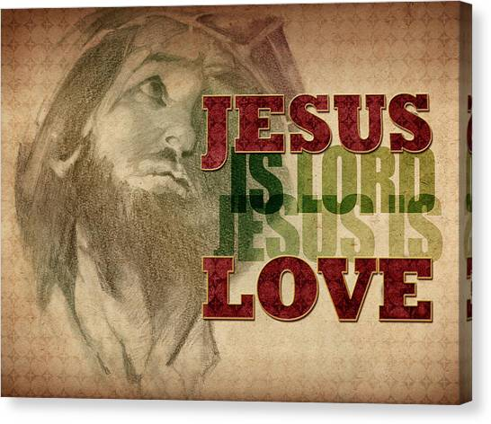 Jesus Love Canvas Print