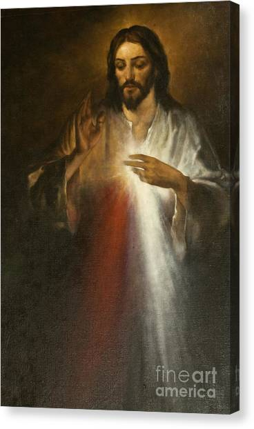 Christian Sacred Canvas Print - Jesus Of Divine Mercy by Dan Radi