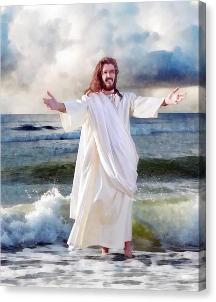 Jesus On The Sea Canvas Print