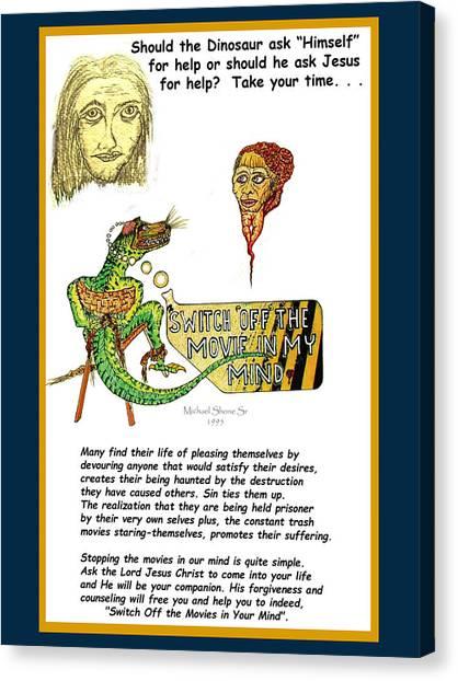 Jesus Switch Off My Minds Movie Canvas Print