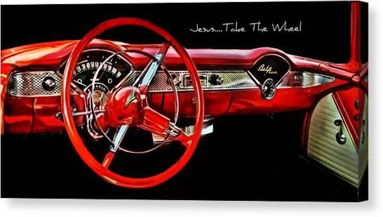 Jesus Take The Wheel Canvas Print