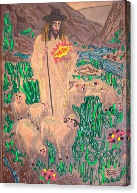 Jesus The Celebrity Canvas Print