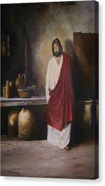 Jesus- The First Miracle- Canvas Print by James Neeley