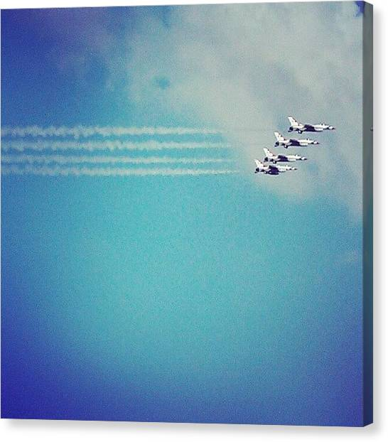 Jets Canvas Print - Jet Form by Sarah Booth
