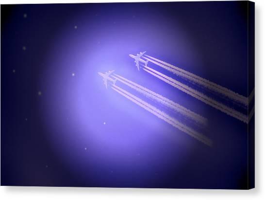 Jet Race Canvas Print