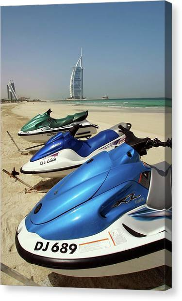 Jet Skis Canvas Print - Jet Skis by Peter Menzel/science Photo Library