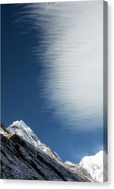 Himalayas Canvas Print - Jet Stream Winds Over Annapurna South by Ashley Cooper