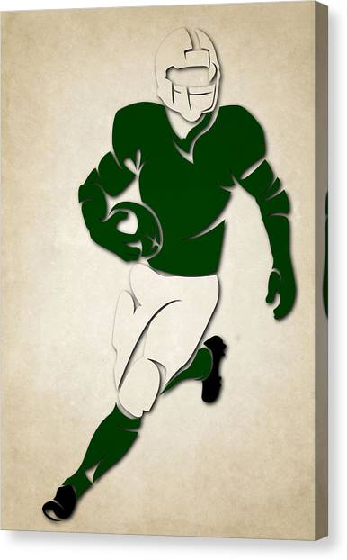 New York Jets Canvas Print - Jets Shadow Player by Joe Hamilton