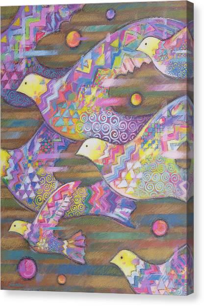 Blending Canvas Print - Jetstream by Sarah Porter