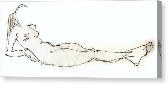 Jewel - Female Nude  Canvas Print