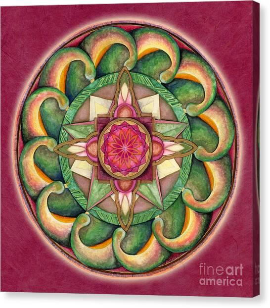 Jewel Of The Heart Mandala Canvas Print