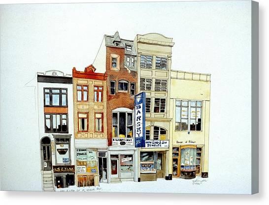 Jeweler's Row Canvas Print