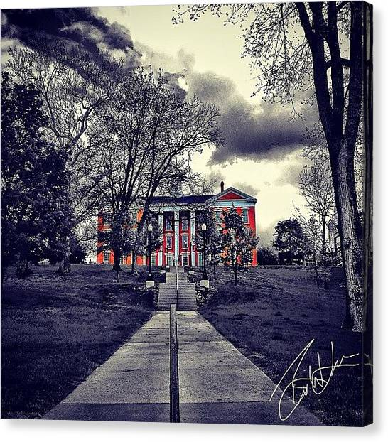 College Canvas Print - Jewell Hall William Jewell by Brian Lea