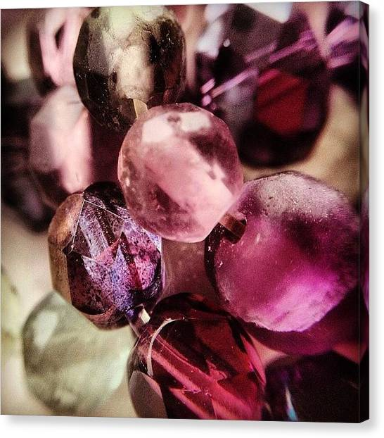 Purple Canvas Print - Jewels by Nic Squirrell