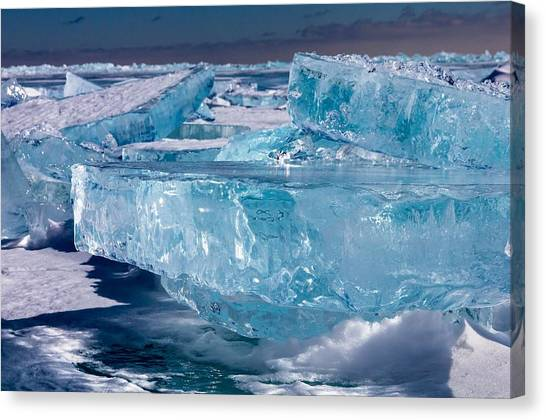 Ice Crystal Canvas Print - Jewels Of Superior by Mary Amerman