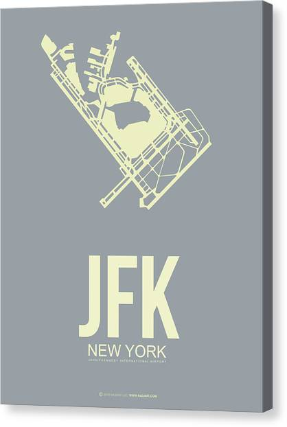 Times Square Canvas Print - Jfk Airport Poster 1 by Naxart Studio