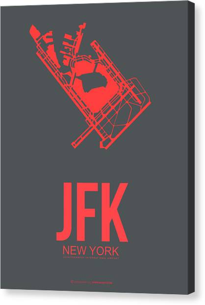 Times Square Canvas Print - Jfk Airport Poster 2 by Naxart Studio