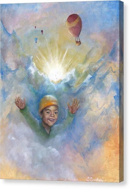 Jhonan And The Hot Air Balloons Canvas Print