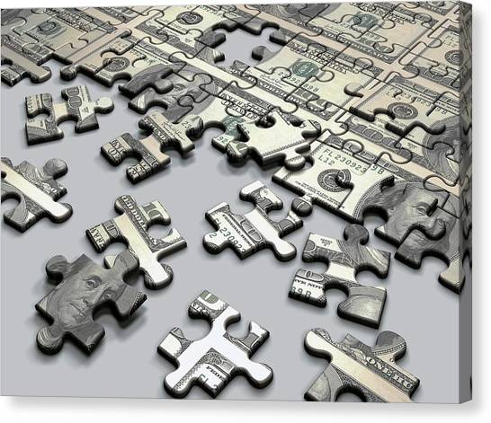 Jigsaw Puzzle Canvas Print by Ktsdesign/science Photo Library